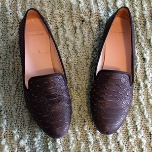 Cole Haan Black Snake Sabrina Loafer